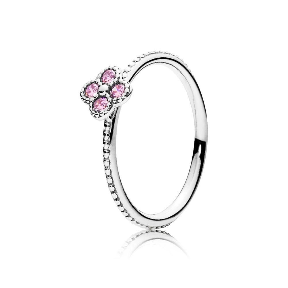 Anello Fiore Orientale Rosa Pandora, dallo stile semplice e romantico.
