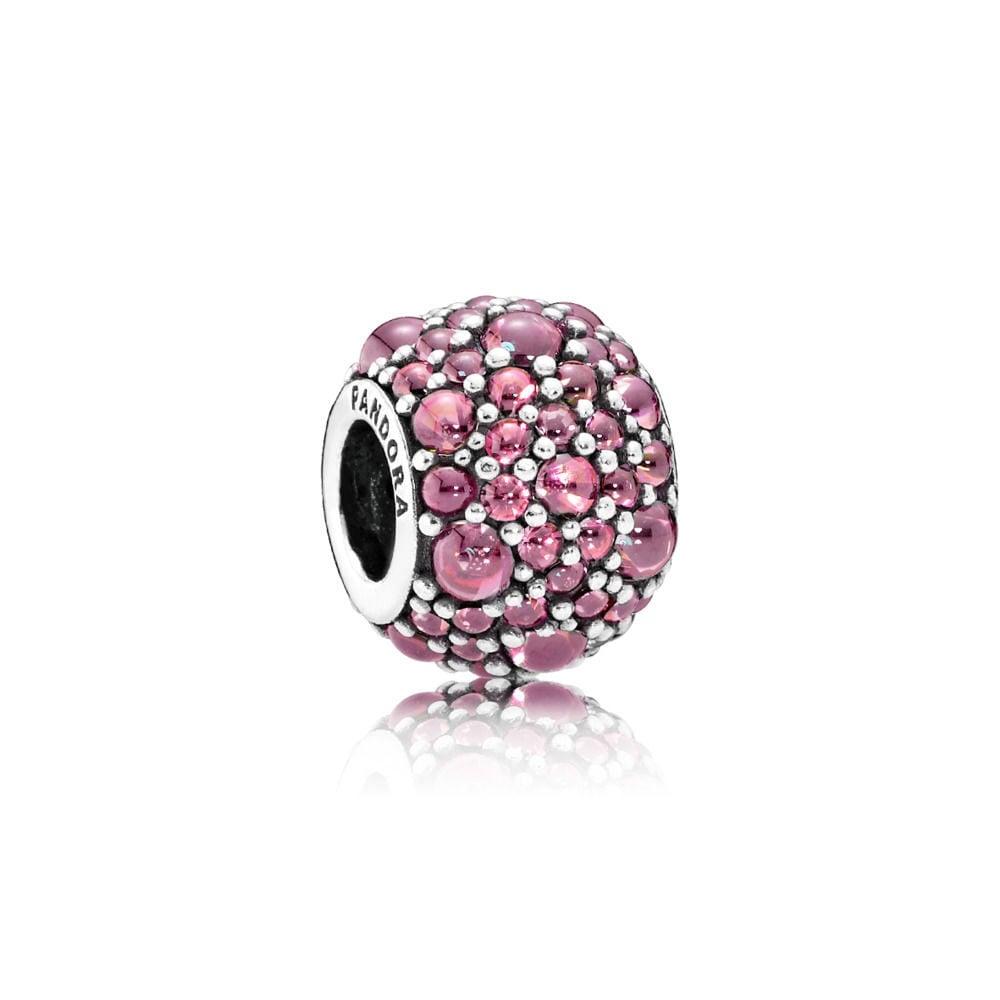 Charm Gocce Scintillanti Color Rosa Caprifoglio Pandora con incrostatura di zirconia bicubica.