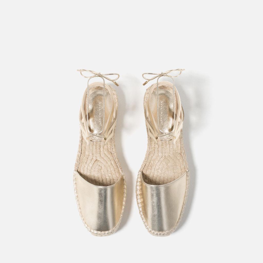 Espadrilla con lacci, Zara – 39,95€