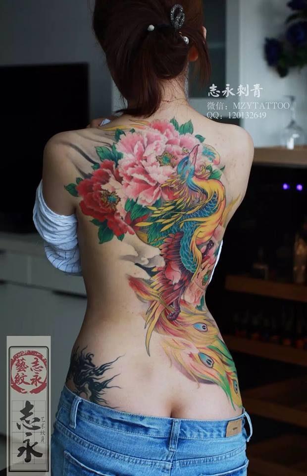 Fenice - Ma Zhiyong (Immagine tratta da Milano Tattoo Convention 2016)