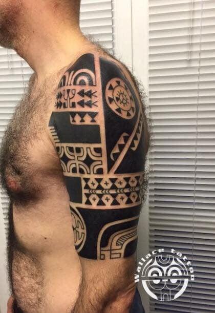 Maori – Marco Wallace (Immagine tratta da Milano Tattoo Convention 2016)