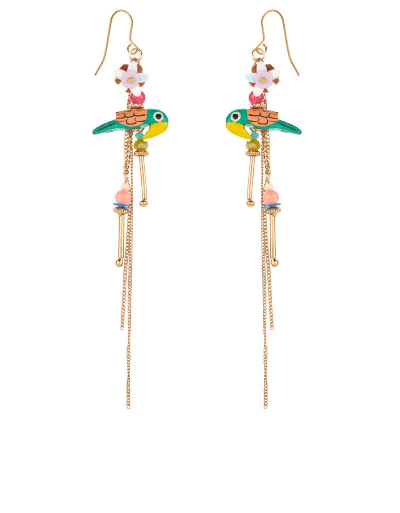 Parrot party slinky earrings, Accessorize – 12,90€