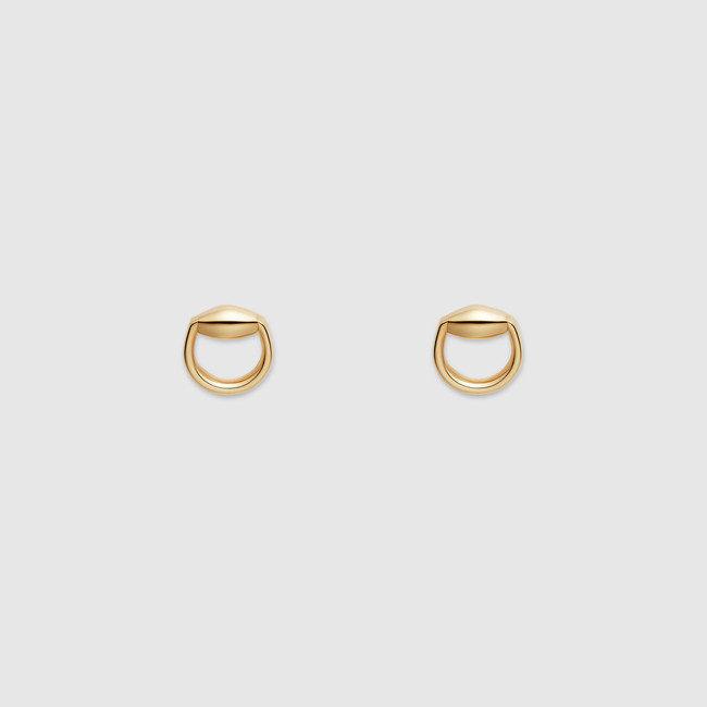 Orecchini horsebit in oro giallo, Gucci