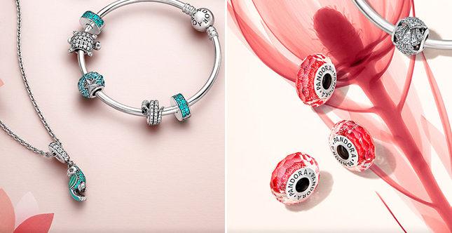 La collezione Pandora per la primavera-estate 2016 è ricca di gioielli eleganti e sensuali, ma anche freschi e sbarazzini.