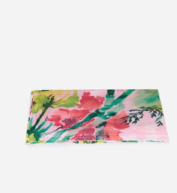 Oysho asciugamano pareo con fiori acquerello