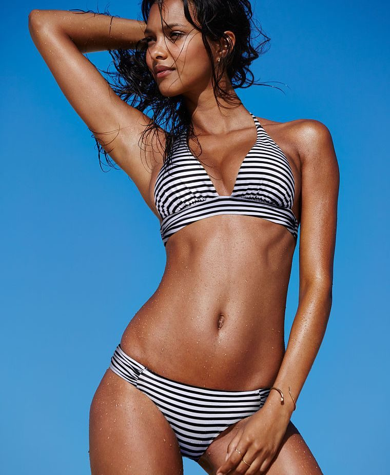 Victoria's Secret bikini a righe The Plunge Halter
