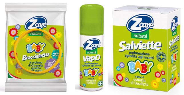 Completamente naturale e molto delicata, la linea di prodotti repellenti Zcare Natural Baby è specifica per i bambini.