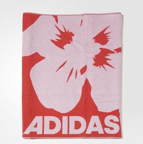 Adidas telo da mare rosso con maxi fiori