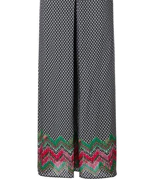 Calzedonia pantaloni lunghi con fantasia multicolor sulle caviglie