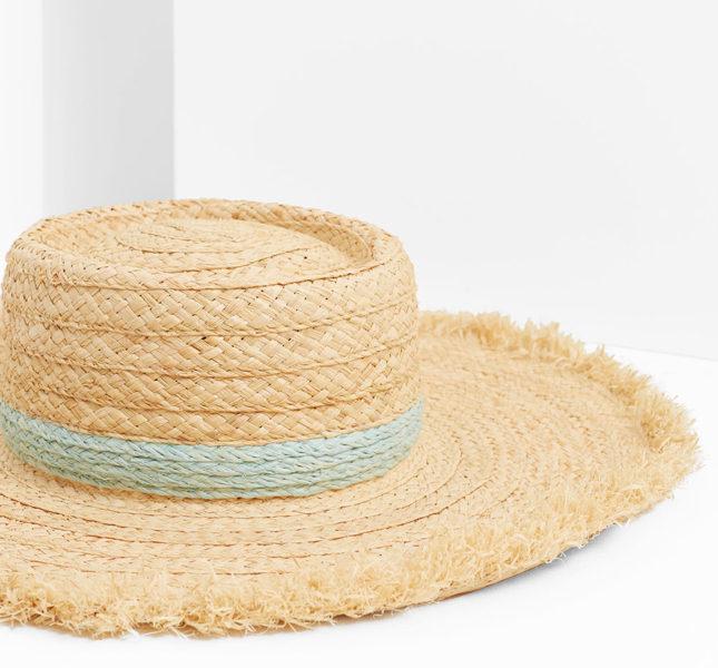 Mango cappello in paglia