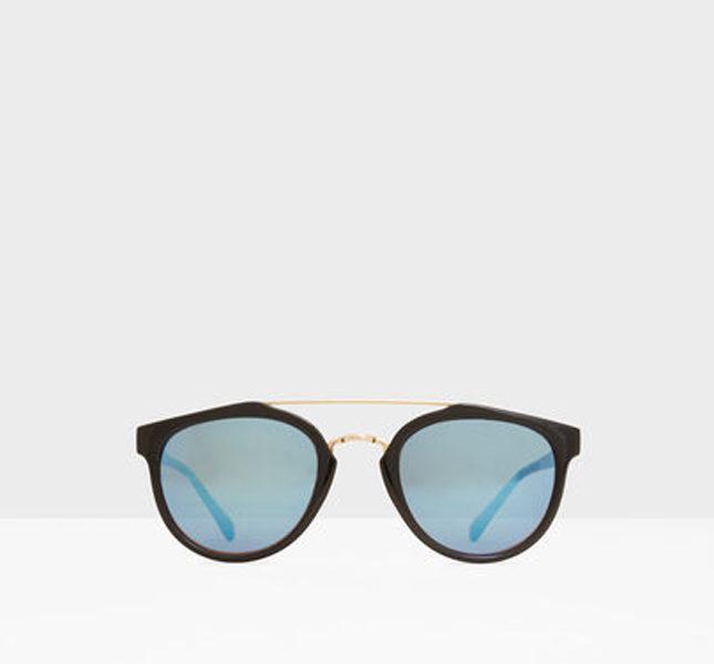 Mango occhiali da sole con lenti a specchio