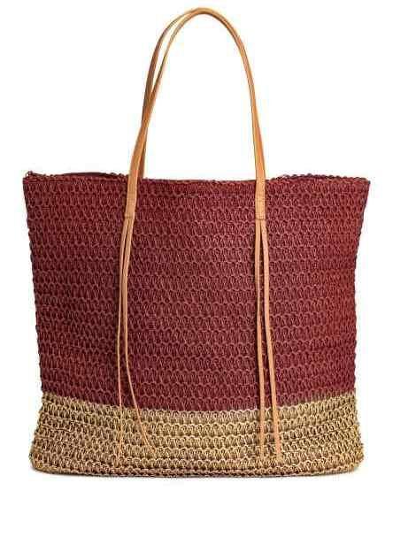 H&M shopper bag in paglia bicolor