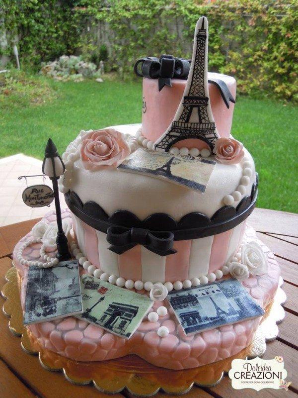 Wedding Cake Parigi foto cakemania
