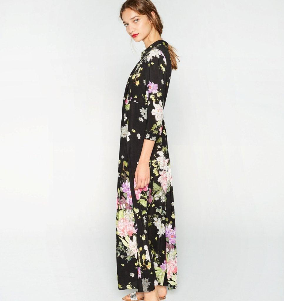 Zara abito lungo a fiori