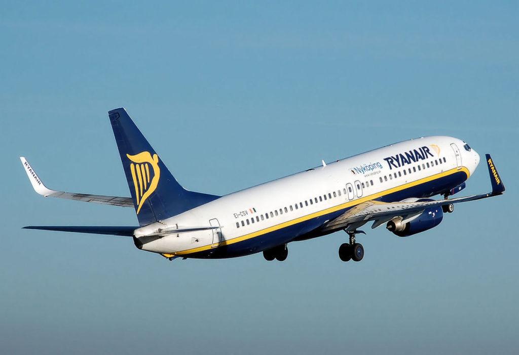 Ryanair, una delle compagnie low-cost più famose in Europa.