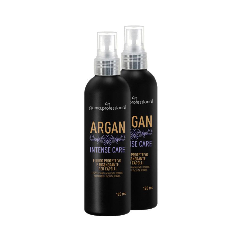 Il fluido protettivo Argan Intense Care difende i capelli dal calore, li ristruttura e li rigenera e li lascia morbidi e più facili da stirare.