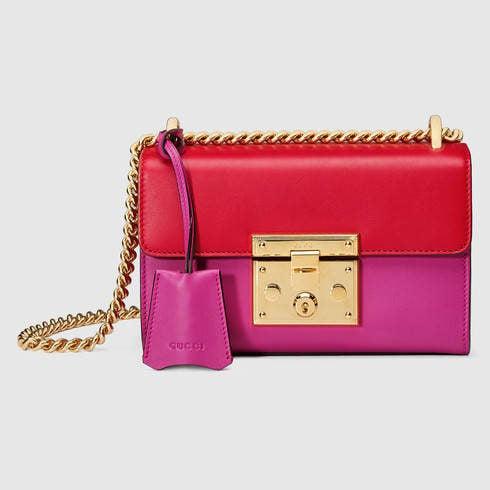 Gucci, borsa modello Padlock in color block