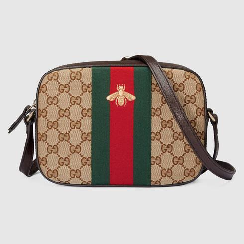 Gucci, borsa a tracolla in tessuto Original GG