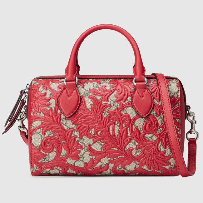 Gucci, bauletto in tessuto GG Supreme con motivo arabesque