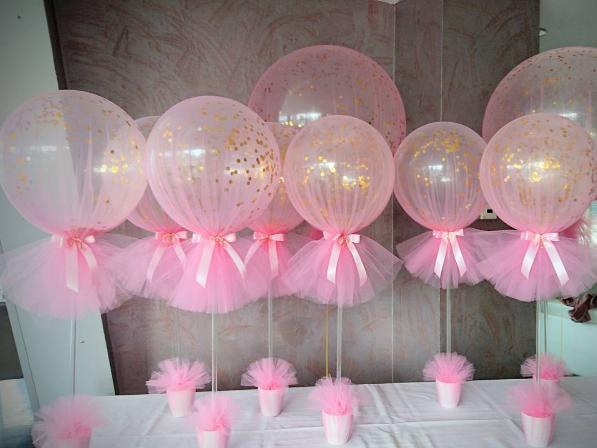I palloncini possono essere ricoperti per creare una composizione molto elegante.