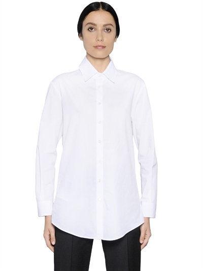 Camicia dal taglio maschile by Giorgio Armani.