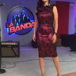 Laura Pausini con abito cangiante
