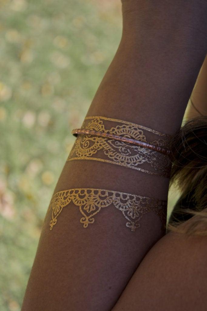 Tatuaggio d'oro