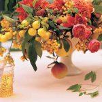 proposta centrotavola con frutta