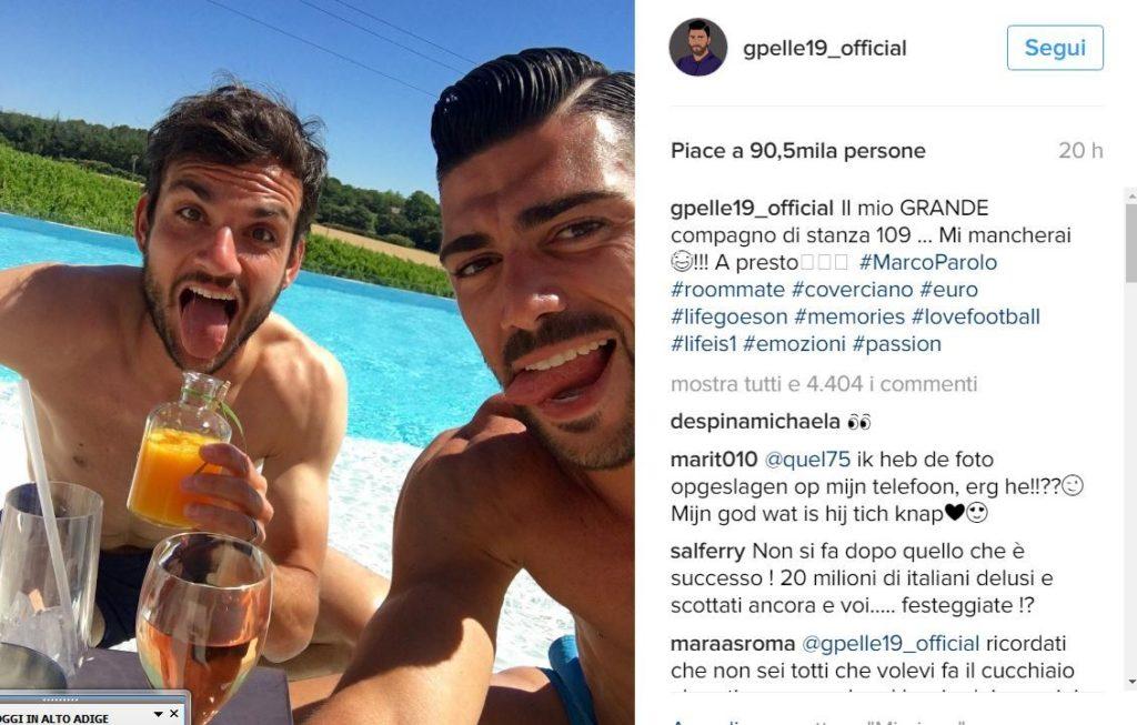 Graziano Pellè con il compagno Parolo