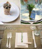 Segnaposto matrimonio green