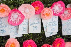 segnaposto matrimonio a tema floreale
