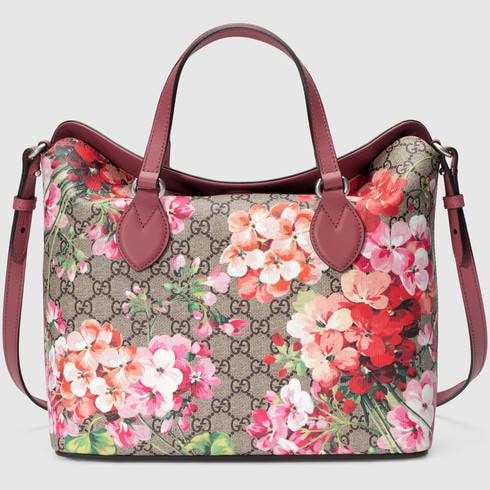 Gucci shopper bag con stampa GG Blooms