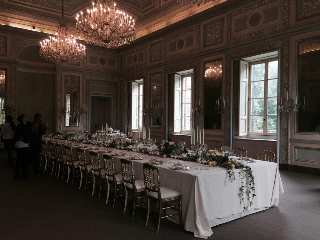 Il salone del Tavolo Imperiale.