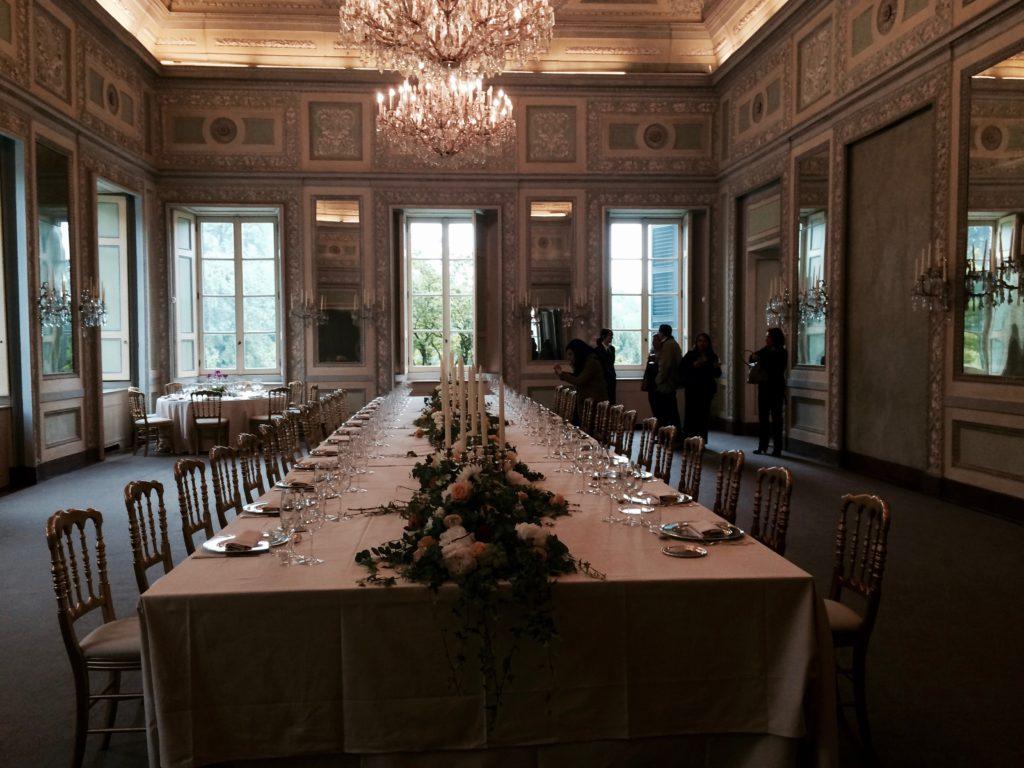 Il Tavolo Imperiale per il banchetto.
