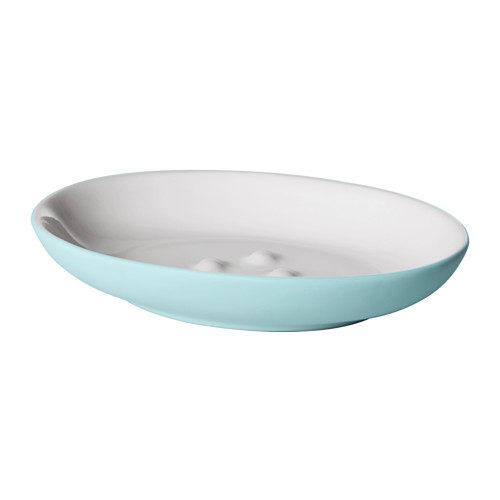 Portasapone Ekoln di Ikea 3,50 euro. Disponibile nei colori turchese, celeste e grigio scuro.