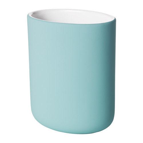 Portaspazzolino Ekoln di Ikea 4,50 euro. Disponibile nei colori turchese, celeste e grigio scuro,