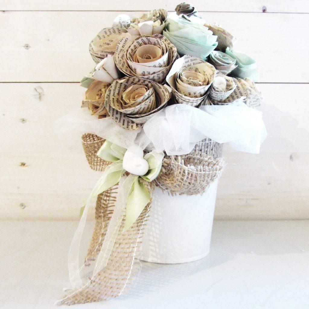 Centrotavola fiori di carta per matrimonio le tendenze for Fiori di carta di giornale