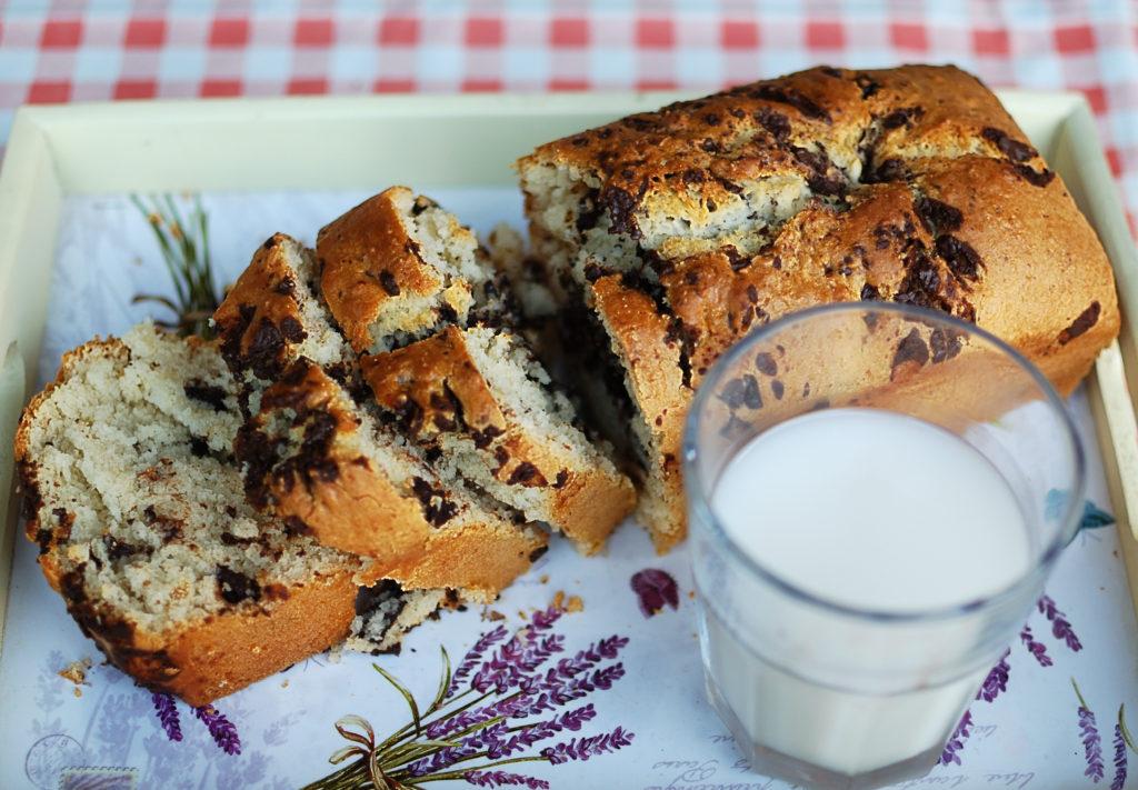 pane al cocco con cioccolato fondente più latte
