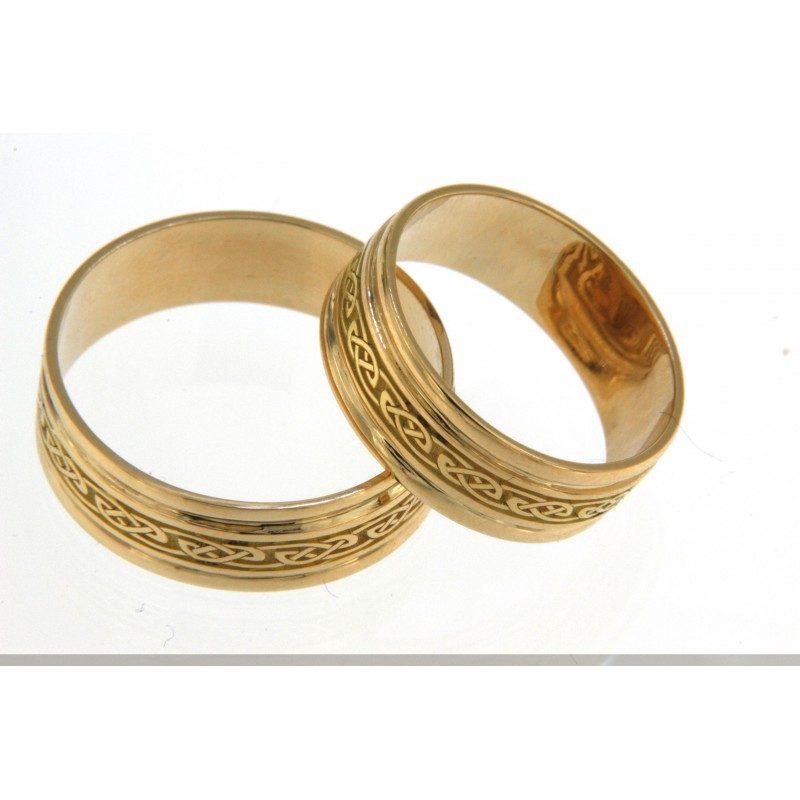 Fedi nuziali in oro con decorazioni di limaebulino