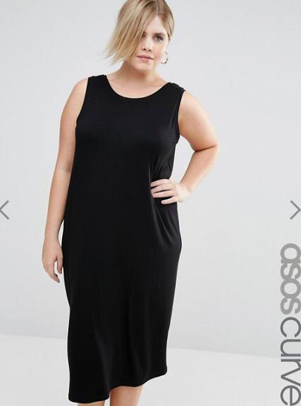 Vestito Midi, scollo ad anello - Asos Curve, 21,00 €