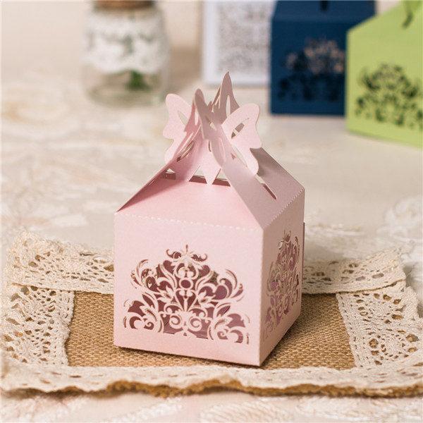 Scatolina porta confetti colore Pale dogwood di partecipazionematrimoniolaser.com