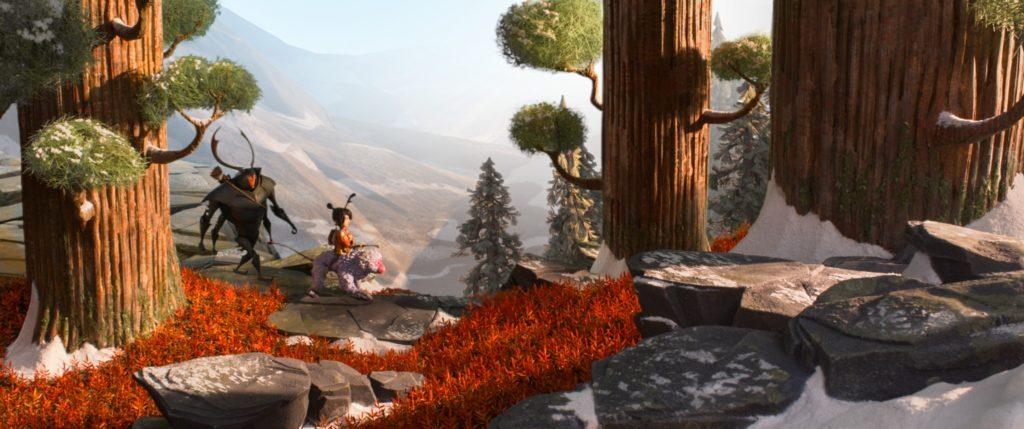 Kubo Scimmia e Scarabeo proseguono il loro viaggio nella foresta - Laika Studios/Focus Features