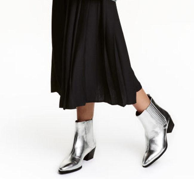 H&M stivali argento con tacco