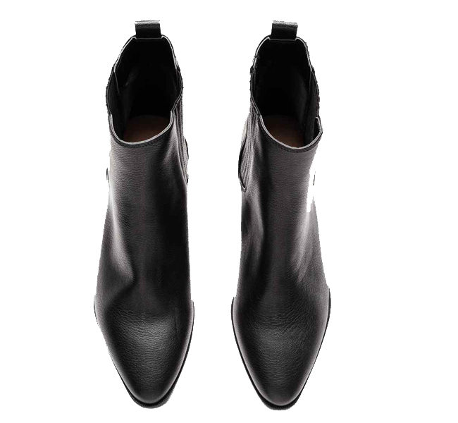 H&M stivali in pelle nera