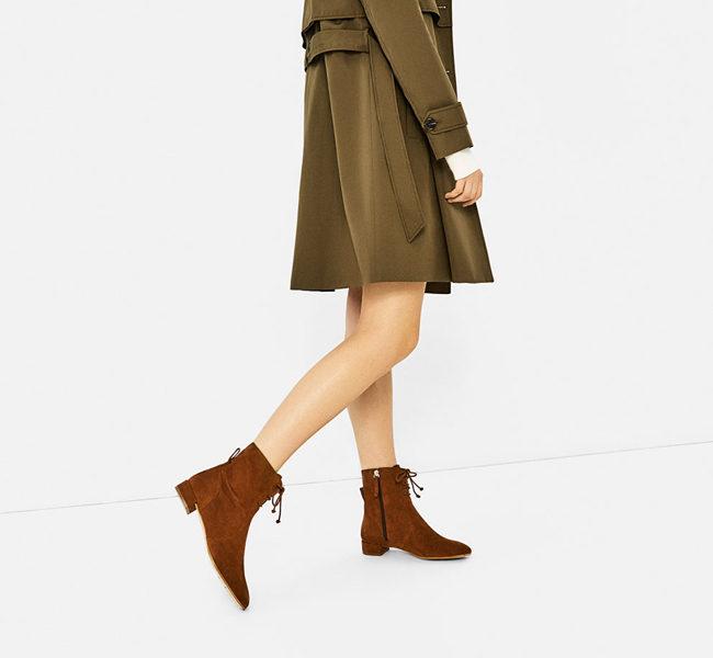 Zara, stivaletto con lacci