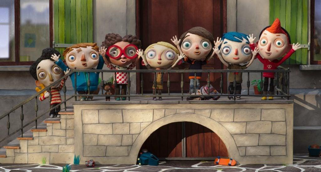 Foto di gruppo nella casa dei bambini