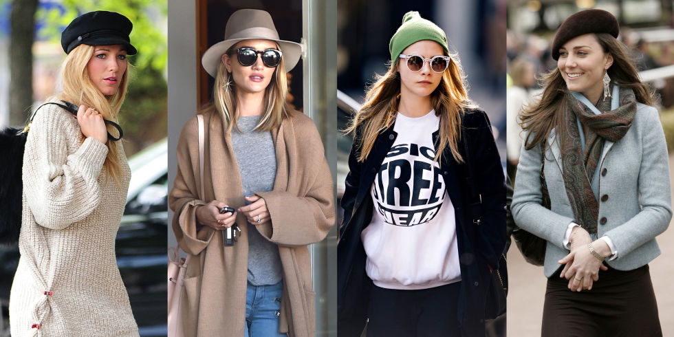 Star internazionali e la principessa Kate con i berretti alla moda