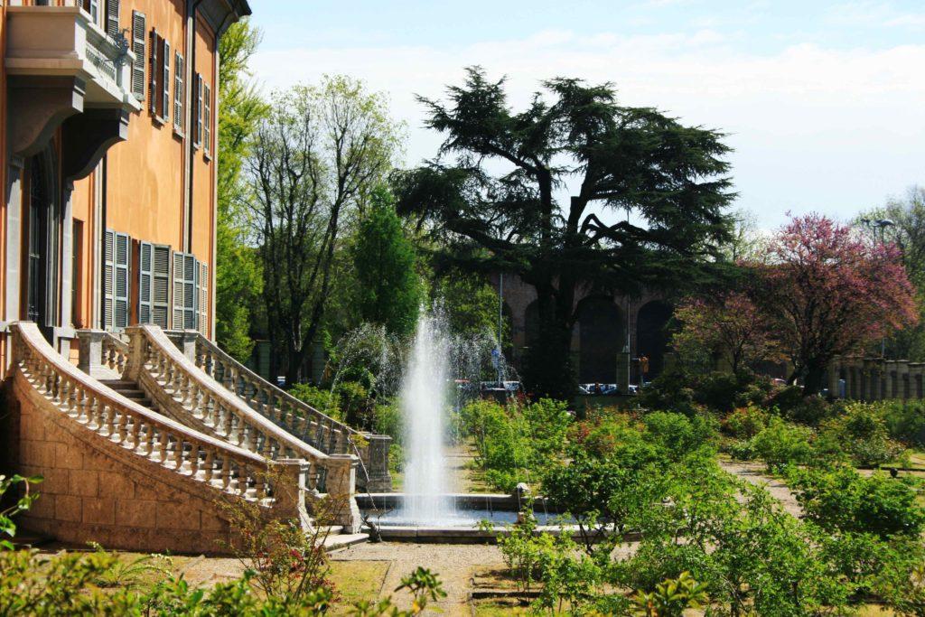 L'ingresso dell'Orto botanico di Pavia.