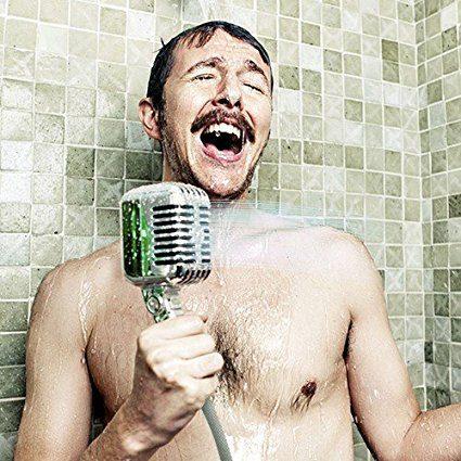 Soffione doccia microfono finto Amazon