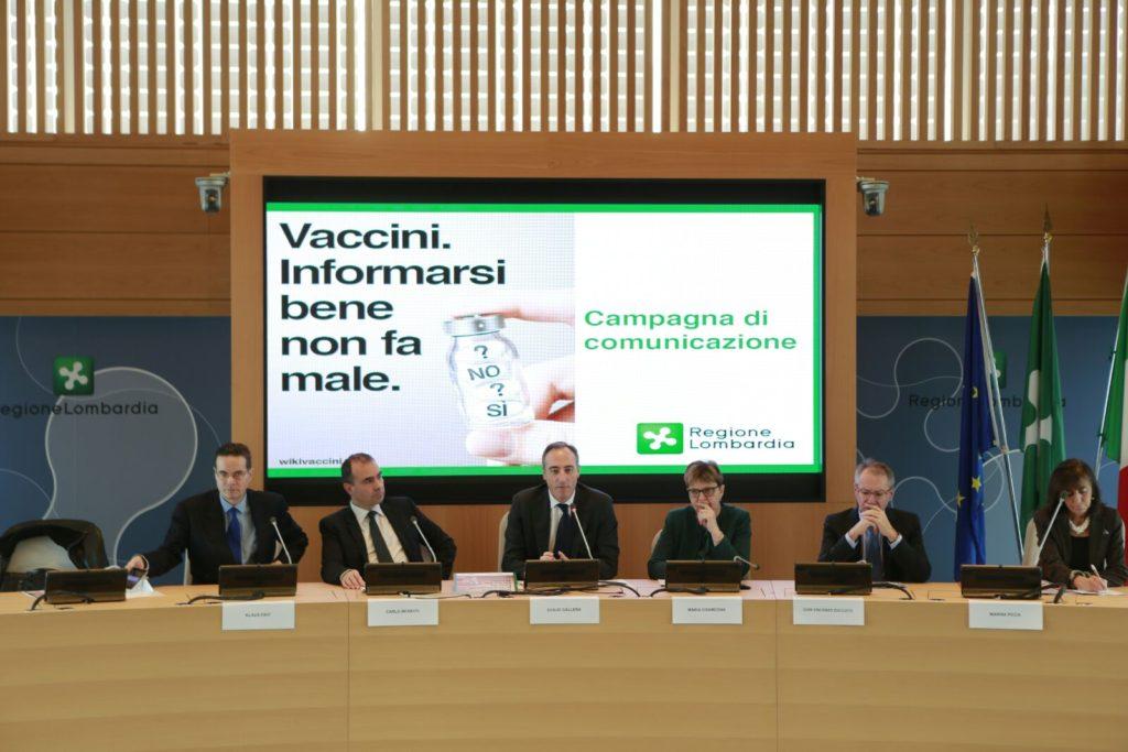 La presentazione della campagna della Regione Lombardia